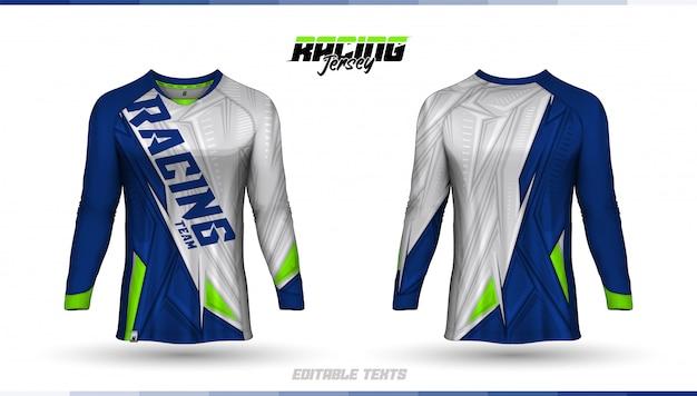 Шаблон футболки, дизайн гоночного трикотажа, футбольный джерси