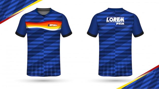 サッカーシャツのテンプレート