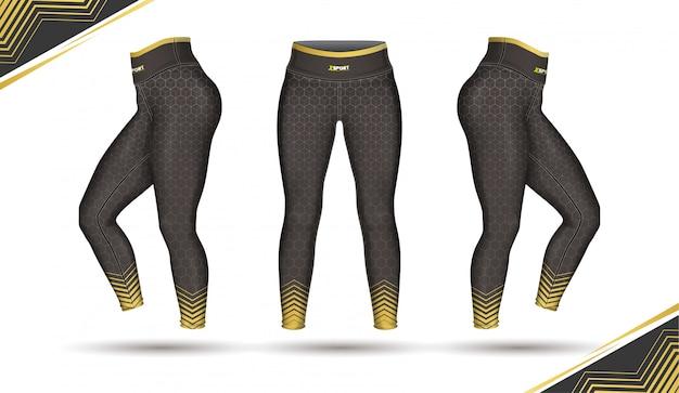 レギンスパンツファッション金型とイラストベクトル