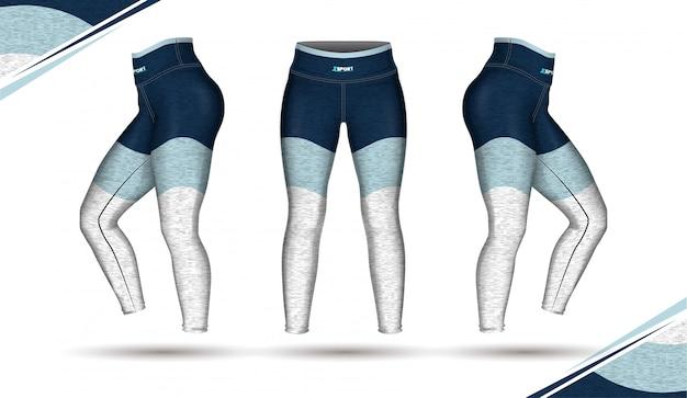 レギンスパンツトレーニングファッションイラストベクトル型