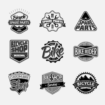 自転車のコレクションラベル