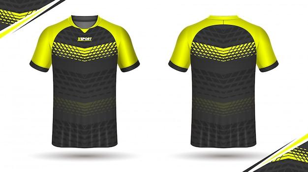 Футболка шаблон спортивного дизайна футболки