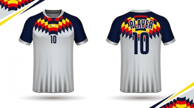 Шаблон футбольного свитера
