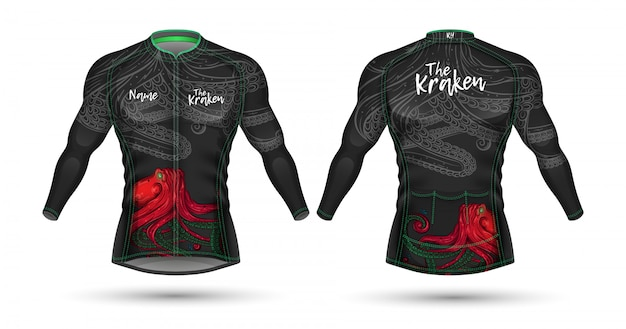 サイクルジャージーシャツのデザイン