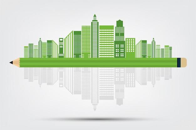 エコロジーのコンセプトと環境にやさしいアイデア