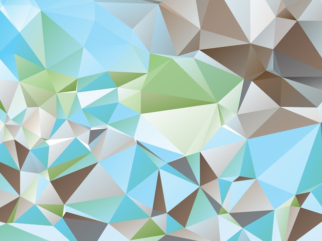 カラフルな三角形