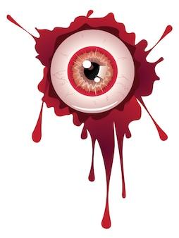 ハロウィンの血まみれの眼球