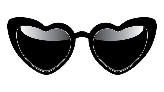 Солнцезащитные очки в форме сердца