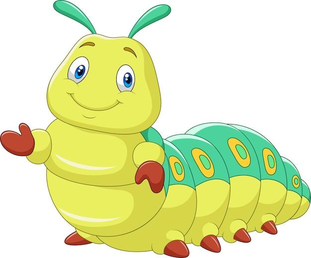 Симпатичная гусеница, представляющая