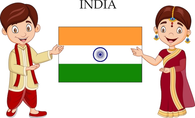インドの漫画の衣装