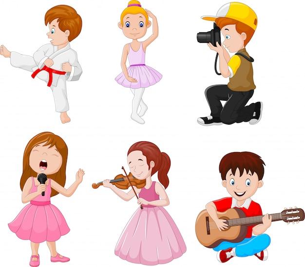 Дети, занимающиеся разными увлечениями