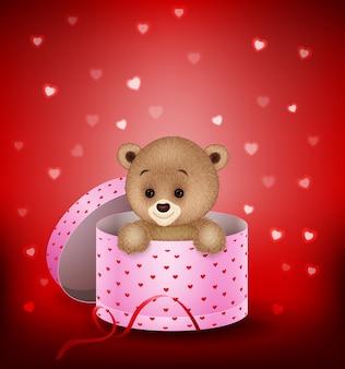 Мультфильм маленький медведь в подарочной коробке