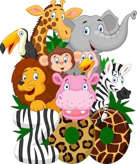 動物園の漫画コレクション動物