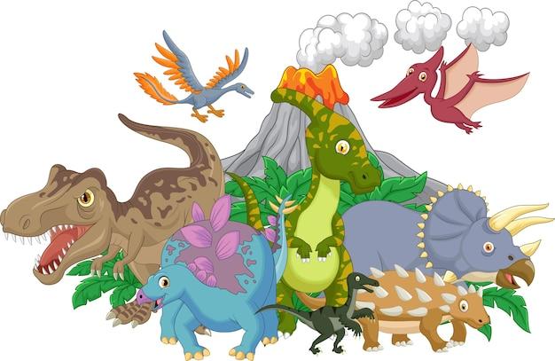 Мультяшный персонаж динозавров