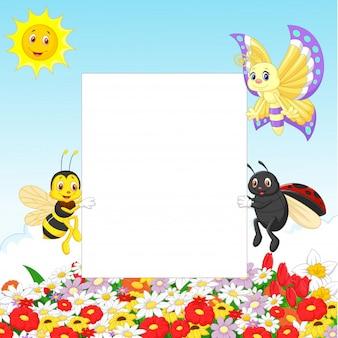 Симпатичное насекомое с пустым знаком