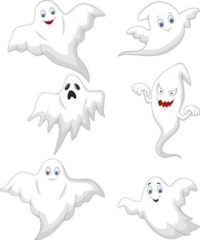 かわいい幽霊の漫画のコレクションセット