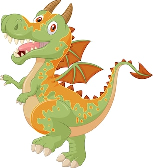 Мультфильм детского дракона, представляющий