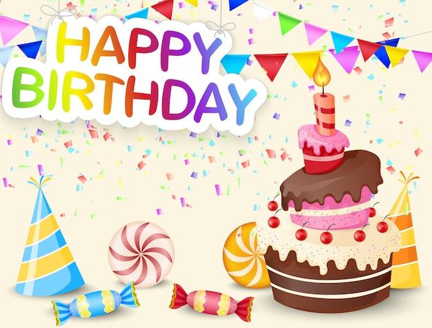 誕生日のケーキと誕生日の背景