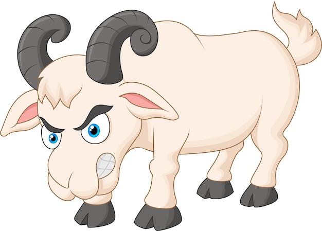 怒っている漫画のヤギ