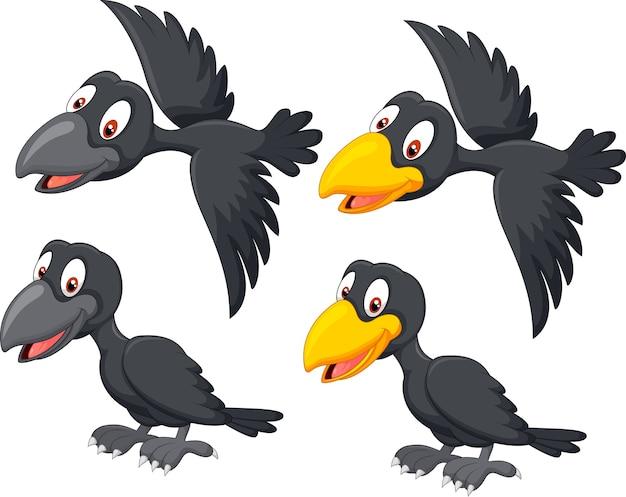 Симпатичный мультфильм ворон