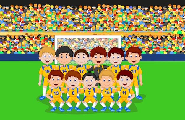 サッカーチームの漫画