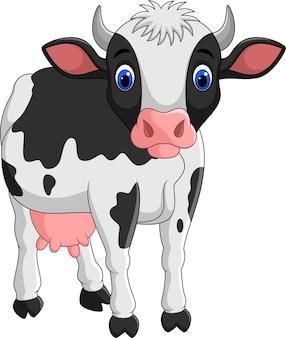 漫画の牛は、白い背景に