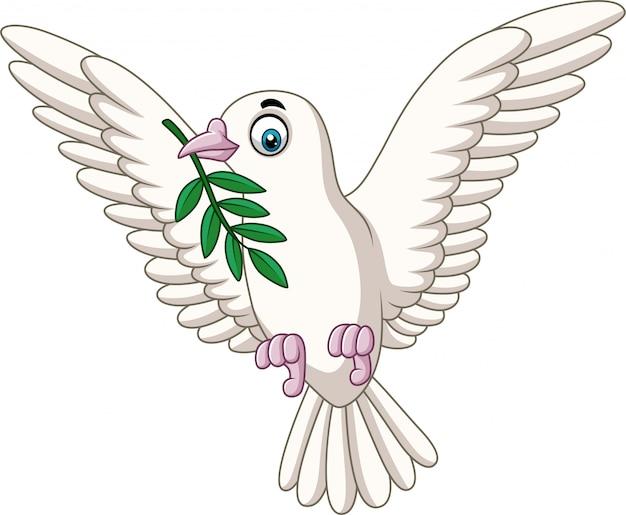 オリーブの枝を持つ漫画鳩
