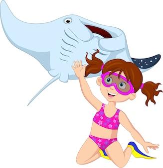 かわい子、ガチガチ、ダイビング