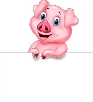 空白記号付き漫画豚