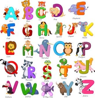 動物のアルファベットセット