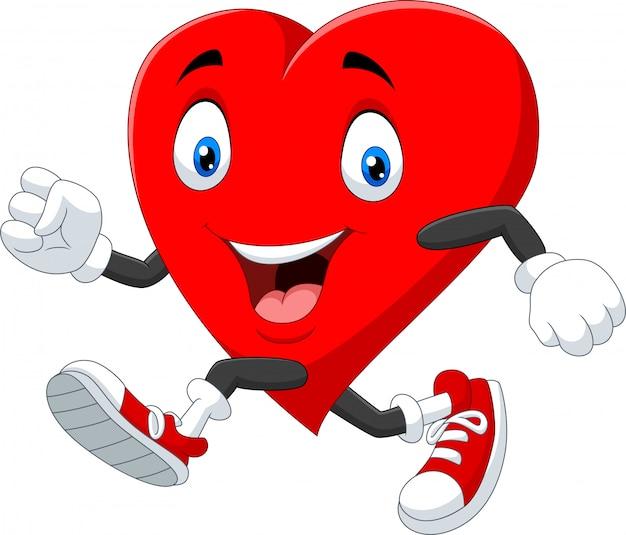 Мультфильм сердце работает, чтобы сохранить здоровье