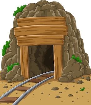 漫画鉱山入り口