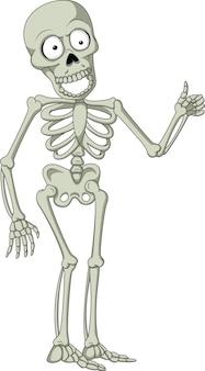 Мультфильм скелет дает большой палец вверх