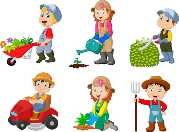 園芸子供のコレクション