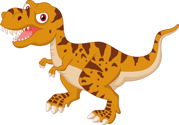 怒っている漫画のティラノサウルス