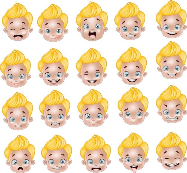 漫画リトルボーイ様々な顔の表現