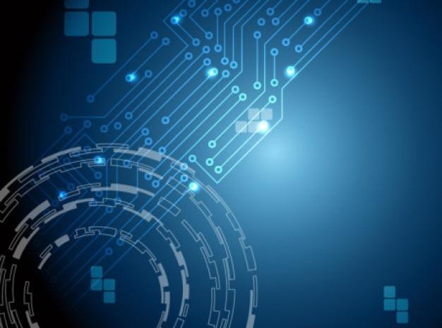 Синий абстрактный фон кибернетических