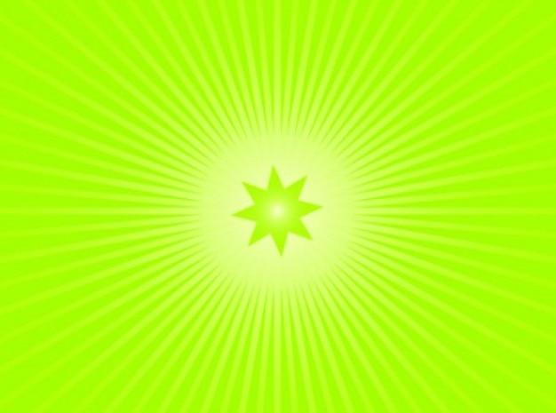 背景放射に緑の星