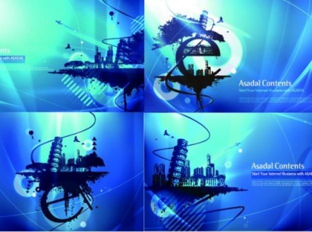 Синий фон городах созданы