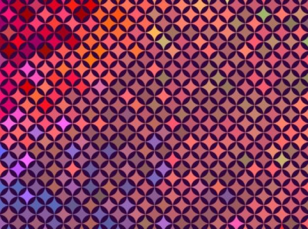 テクノスタイリッシュなレトロ色の背景ベクトルセット