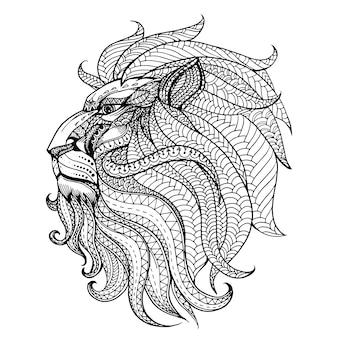 手描きのライオンの背景