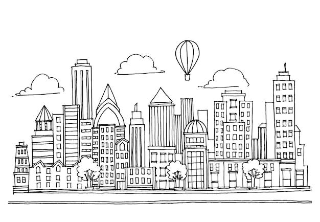 Нарисованный рукой город