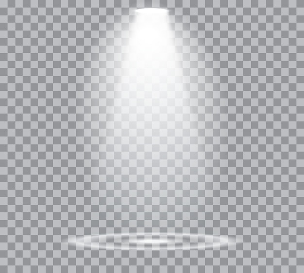 イラストスポットライト。シーン。光の効果。トランスペアレント
