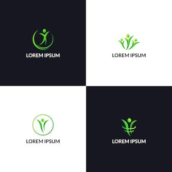 健康的な生活の人々のロゴのアイコンテンプレート