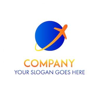 旅行飛行機のビジネス交通ロゴ