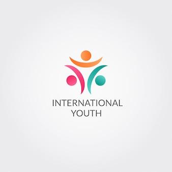 青少年コミュニティのための抽象的なロゴ
