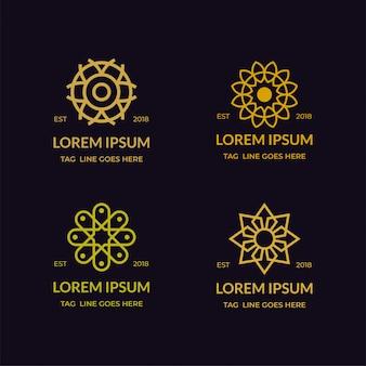 Монолайн бизнес брендинг логотип