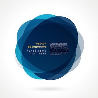 抽象的な円のフレーム