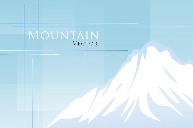 Снежная гора на синем фоне