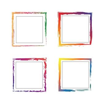 Цветочные рамки гранж-площади